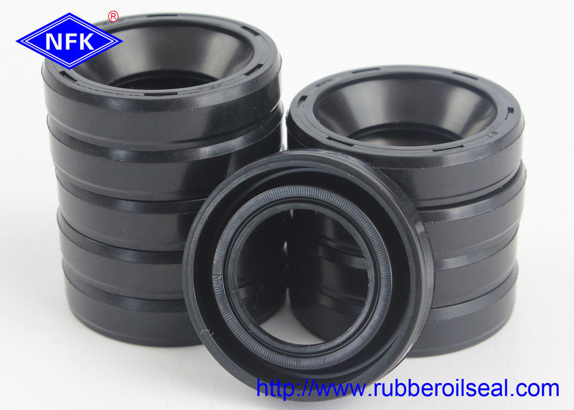 NBR Material Rubber Oil Seal , NOK Double Lip Oil Seal For High Temperature